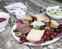 Our cheese and charcuterie platter © Photo by Beth Schneck